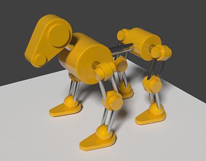 Тестовая работа в Blender. Собака-робот. Анимация