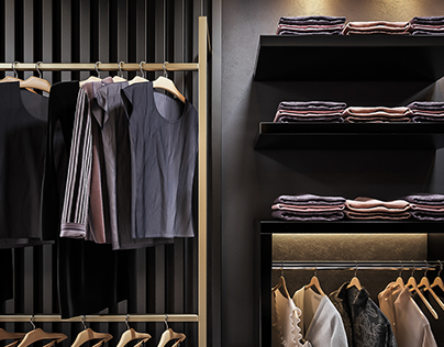 Just For You - Black & Gold Retail Interior .