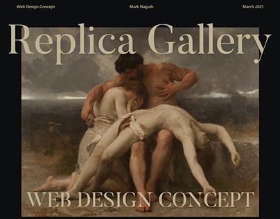 Replica Gallery UI Design
