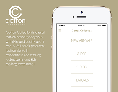 iOS App Concept Design for Cotton Collection