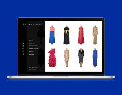 William Vintage E-commerce Website