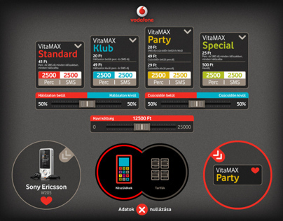 Vodafone app design for Microsoft Surface