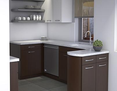 3D Interior Kitchen Rendering
