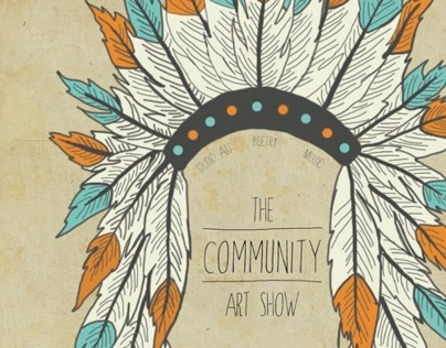 The Community Art Show Poster
