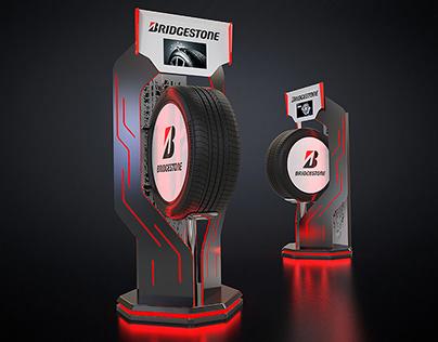 Posm floor display for Bridgestone.