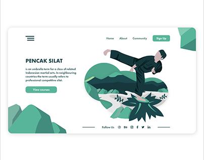 Pencak Silat - UI Concept Landing Page