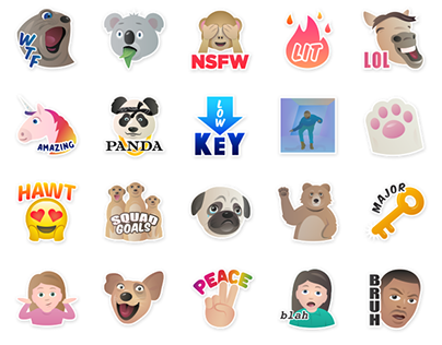 Stickers for the app Flurry