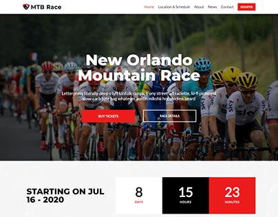 Event WordPress website, Upcoming event