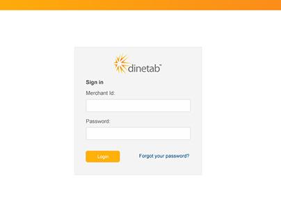 Dinetab webapp UI/UX