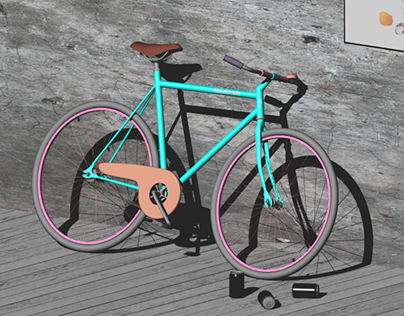 A bicycle study // 3D Modelling & Rendering