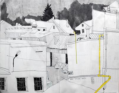 Black urban sketchbook 28.08. - 14.12.2015