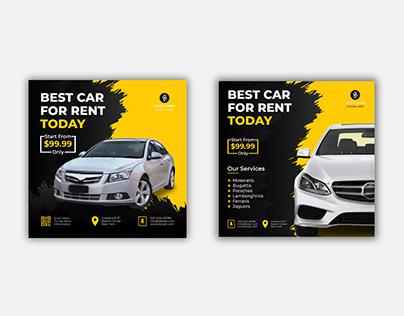 Rent Car Social Media Post Template- 3