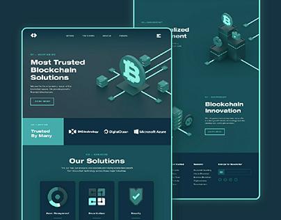 Dark crypto currency web design