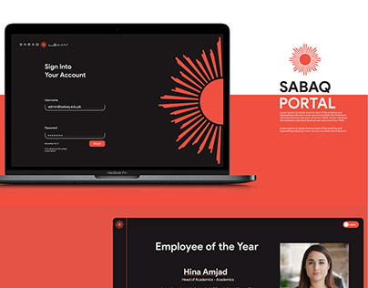 SABAQ Portal Ui Design (Black Version)