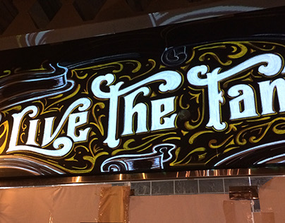 """Lettering Mural - Restaurant """"The Place"""""""