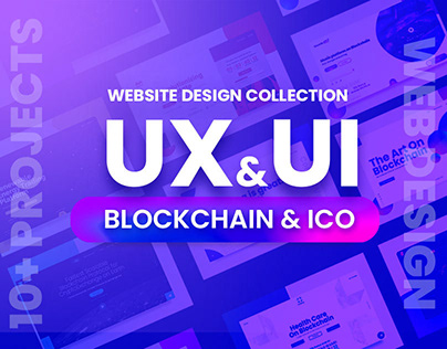 12 UX UI collection website solution for blockchain ICO