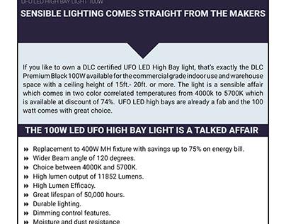 100W LED UFO High Bay Light