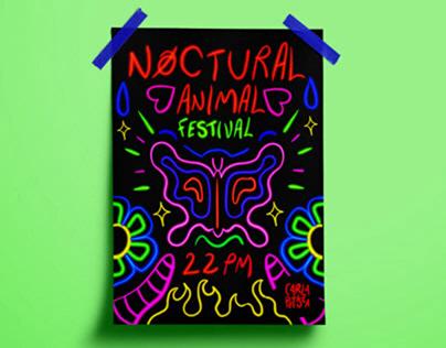 NOCTURAL ANIMAL FESTIVAL - IDENTITÉ VISUELLE