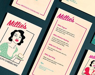 Millie's Brooklyn Cheesecake Branding