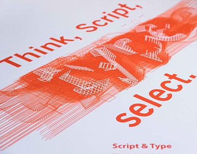 Type&Script (Poster Design)