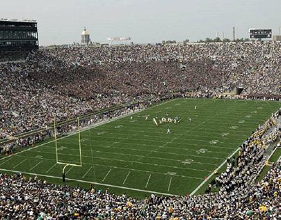 Jampacked stadium for The Fighting Irish