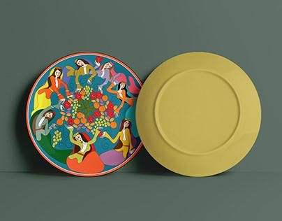 National plate design