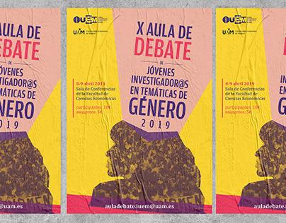 X Aula de Debate IUEM | Diseño de cartel y papelería