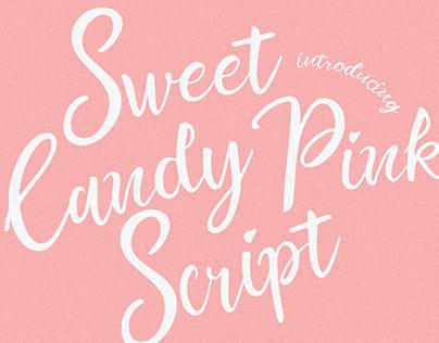Sweet Candy Pink Script