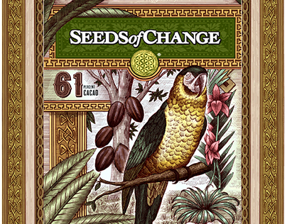 Seeds of Change Packaging Illustrated by Steven Noble