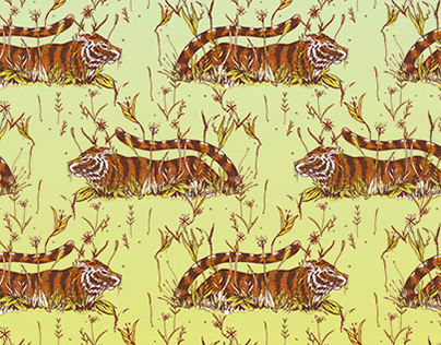 Jungle Tiger Pattern Design