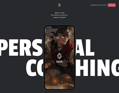 Mobile app marketing website