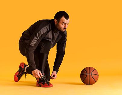 Photo merging basket ball