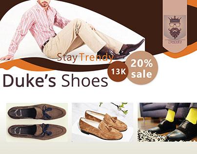Duke's Shoes Sample Flyer