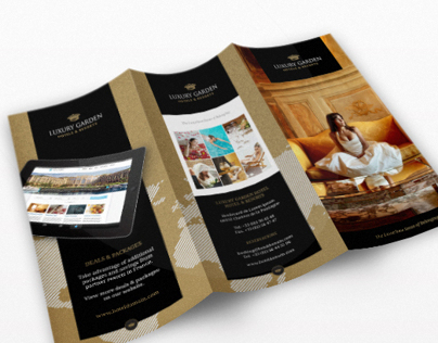 Tri-fold: Contemporary Hotel InDesign Brochure