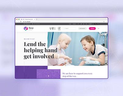 NGO Website UI/UX - Research - FoCP.ae | Concept Design