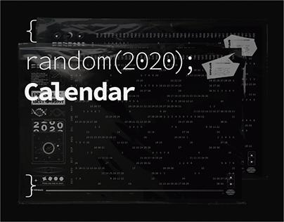 random(2020);Calendar | 隨機生成(2020);日曆 周邊