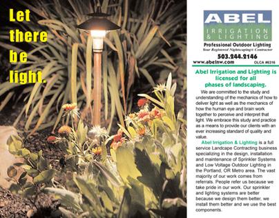 ABEL Irrigation and Lighting Tri-fold