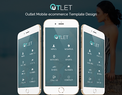 Outlet Mobile ecommerce Template Design