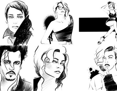 Graphic Fashion illustrations