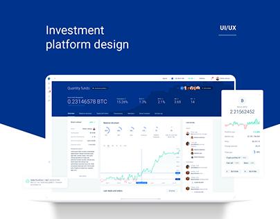 Investment platform UI/UX design