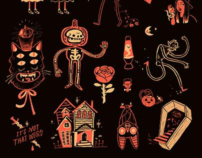 Halloween Flash Sheet print