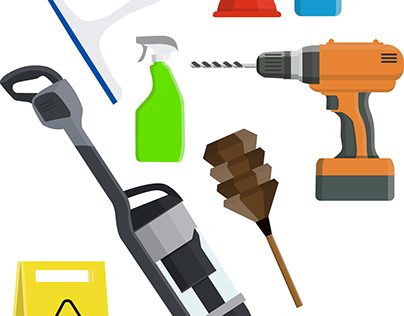 Handyman/Cleaning Icons