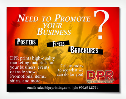 Digital Print Resources half page ad