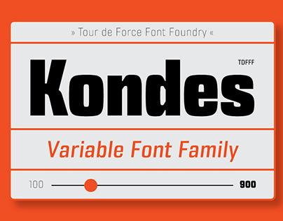 Kondes (variable) Font Family
