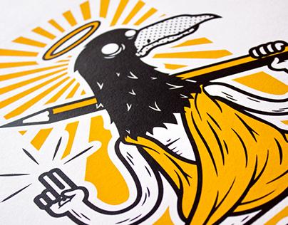 Holy Crow // Screenprint