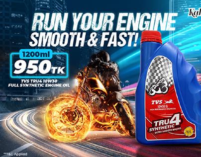 Engine oil social media ad banner