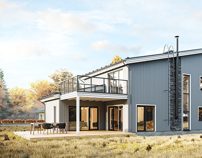 Finnish Houses Visualization Series. House №6