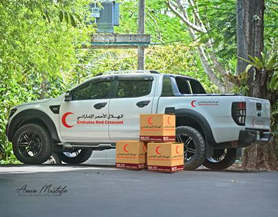 Emirates Red Crescent box design