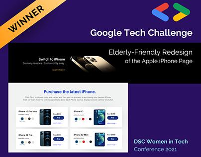 Google Tech Challenge Solution