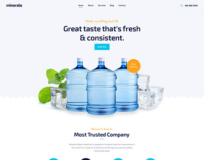 Mineralo - Bottled Water Delivery Service